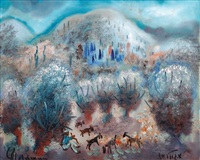 goat in the landscape by albert goldman