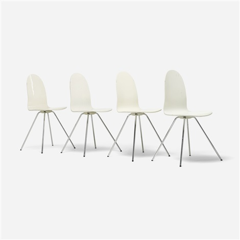 tongue chairs set of 4 by arne jacobsen
