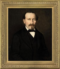portrait of a gentleman in a brown coat and cravat by pierre louis de coninck