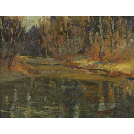 forest and pond by manly edward macdonald