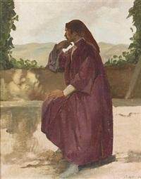 mann in rotem gewand by pietro aldi