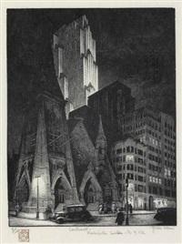 contrast--rockefeller center, new york city by grace arnold albee