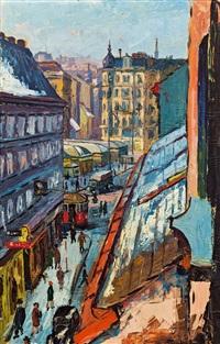 blick zum naschmarkt by josef maria svoboda