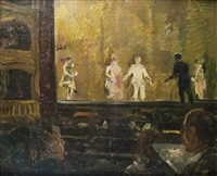 theaterabend in paris by maximilien (max) clarenbach