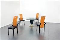 tavolo da gioco e quattro sedie by pierre cardin