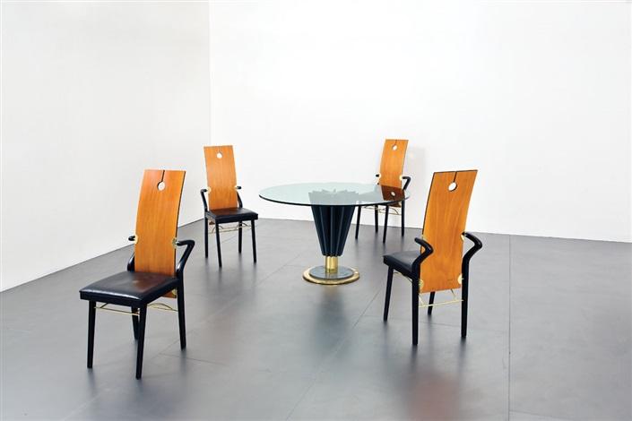 Tavolo Da Gioco E Quattro Sedie By Pierre Cardin On Artnet