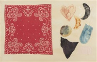 mid summer wall study 5 (red bandana) by jim dine