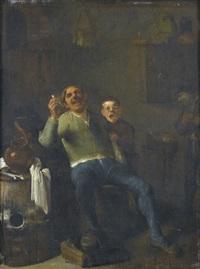 interieur mit lachendem pfeifenraucher by pieter jacobsz duyfhuysen