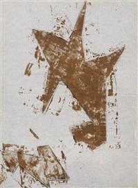 zwei braune formen, aus spitzwinkligen dreiecken by hermann glöckner