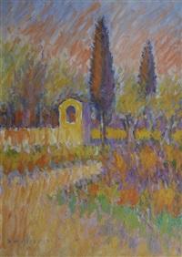 tabernacolo con cipressi by dino migliorini