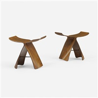 butterfly stools, pair by sori yanagi