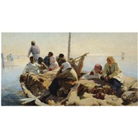on the river oka by abram efimovich arkhipov
