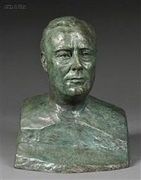 buste de franklin d. roosevelt, gouverneur de l'état de new york by serge yourievitch