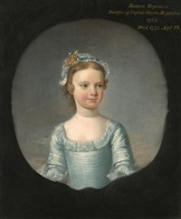 portrait of barbara repington when a girl (d. 1775) by henry pickering