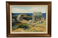 monhegan fish houses by george g. adomeit