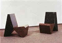 two granite chairs by scott burton