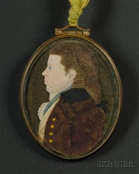 portrait miniature of a young man by mary way