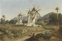 windmühlen auf mallorca by adolphe-paul-emile balfourier