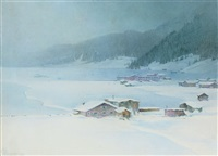 in winter garb, davos by george laurence nelson