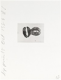 lip prints (4 works) by donald sultan