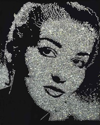 maria callas (from the diamond series) by vik muniz