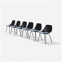 tonneau chairs (set of 6) by pierre guariche