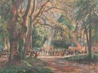 la procession de notre-dame de grâce by raymond (louis) le court