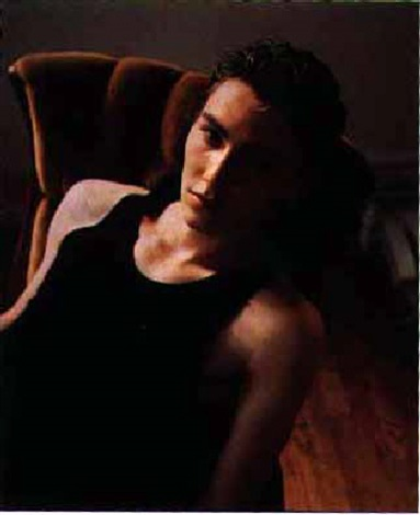 boris in green chair nyc 1997 by david geoffrey armstrong