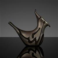 bird vase by vetreria fratelli toso
