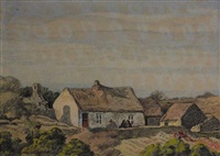 cottages at dooks, glenbeigh, county kerry by marshall c. hutson
