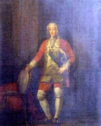 gentleman wearing a red coat by eduardo zamacois y zabala