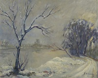 paysage d'hiver by isabelle de ganay