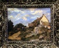 paysage animé à la chaumière by noel boudy
