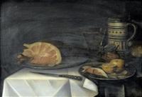 stillleben mit schinken, grapefruit und kelchglas by alexander adriaenssen