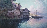 sampans près d'halong by antoine ponchin