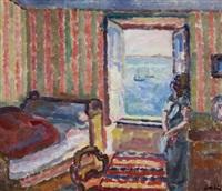 femme à la fenêtre by eugene dabit