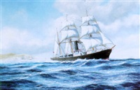 the barque-rigged s.s.