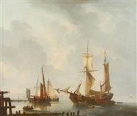 vue portuaire avec vaisseaux hollandais by dominique de bast