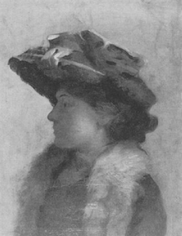 portrait of ethel richardson by basil gotto