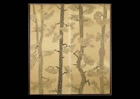 pine (byobu) by sanzo wada