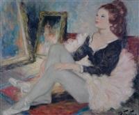 danseuse a l'atelier by pierre eugène duteurtre