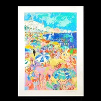 the beach at cannes by leroy neiman