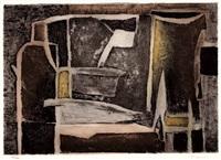 stillleben (+ varech; 2 works by marcel fiorini