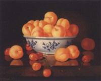 nature morte aux abricots et aux cerises by patrick devaud