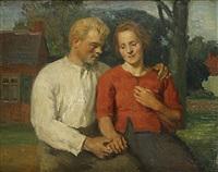 de verloofden by albert van dyck