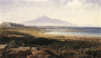 a view of mount etna by johann friedrich stock