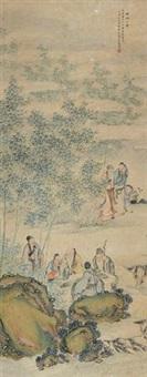 竹林七贤 (seven sages of the bamboo grove) by bai zongwei