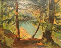 forest landscape by george g. adomeit