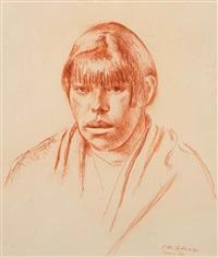 taos woman by kenneth miller adams