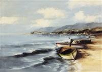 barche sulla spiaggia by luigi rocca